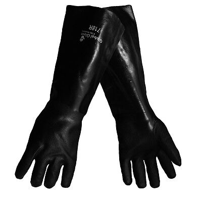 """Global Glove 718R Series Jersey Lined 18"""" Elbow Length PVC Gloves, XL, 1 Pair"""