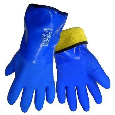 Global Glove 8490 Frogwear Insulated Waterproof Flexible Pvc Gloves 1 Pair