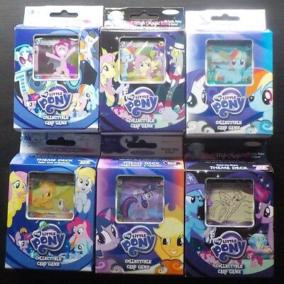 SIX (6) My Little Pony Collectible Card Game Theme Decks MLP - High Magic,