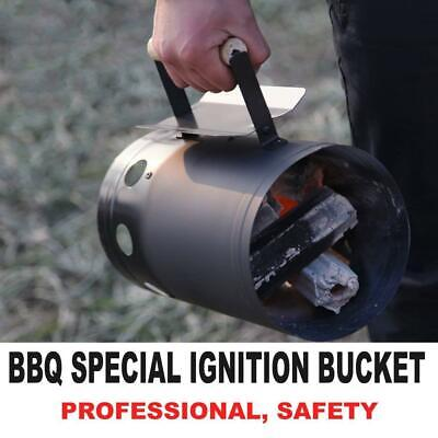 Charcoal Starter BBQ Chimney Quick Starter Frill Lighter Camping Handle DHL