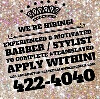 Experienced/Motivated Barber or Hair Stylist