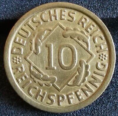10 Reichspfennig 1935 G Deutsches Reich Aluminiumbronze Münze Original