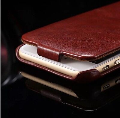 iPhone 8 Schutzhülle Leder Color Brown Leather Flip Cover Luxus Deutschland 🇩🇪 ()