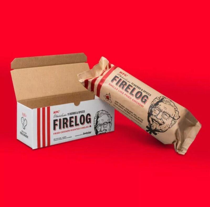 KFC Limited-Edition 11 Herbs & Spices Firelog Enviro-Log Fireplace Wood Stove