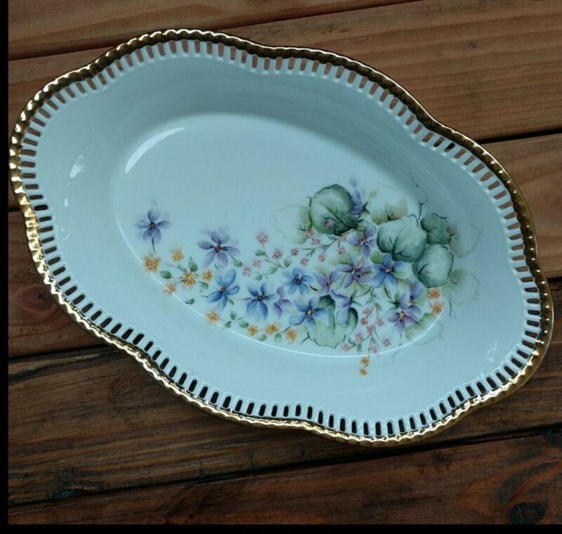 Vtg Schumann floral (Germany) serving bowl