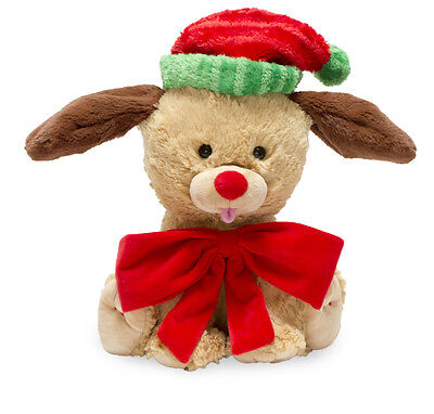 "NEW Cuddle Barn ""Yule Tie Pup"" Dog Puppy 10"" Christmas Animated Song Plush ()"