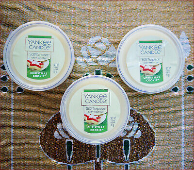 YANKEE CANDLE Scenterpiece Easy Meltcups x 3 ~ CHRISTMAS COOKIE 2.2 oz - NEW
