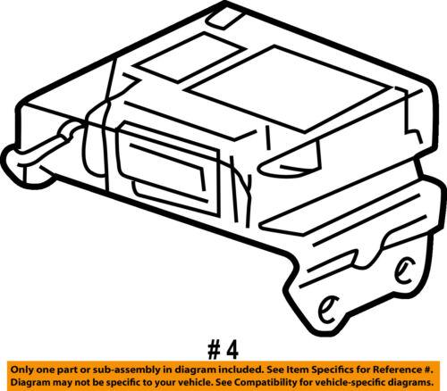 Toyota Oem Camry Supplemental Restraint System Diagnostic Module