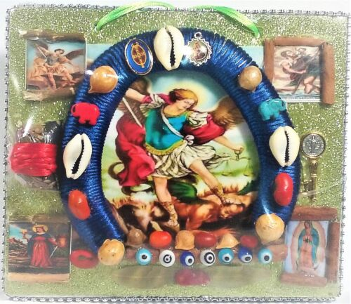 Unique San Miguel Arcangel Horseshoe for Protection and Good Luck