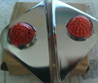 Harley Headlight Visors NOS Jewel ( Detectalite Type ) Vintage Indian Panhead