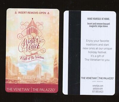 THE VENETIAN//THE PALAZZO---Las Vegas,NV----{near Mint condition}---Room Key-K-3