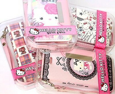 For iPhone 5C - PINK SANRIO HELLO KITTY LEATHER WALLET FLIP POUCH CASE COVER ()