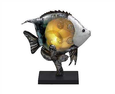 Small Angel Fish Capiz Shell & Metal Novelty Table Lamp Angel Fish Lamp