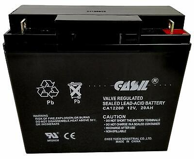 Casil CA12200 12V 20AH Sealed Lead Acid AGM Rechargeable Deep Cycle