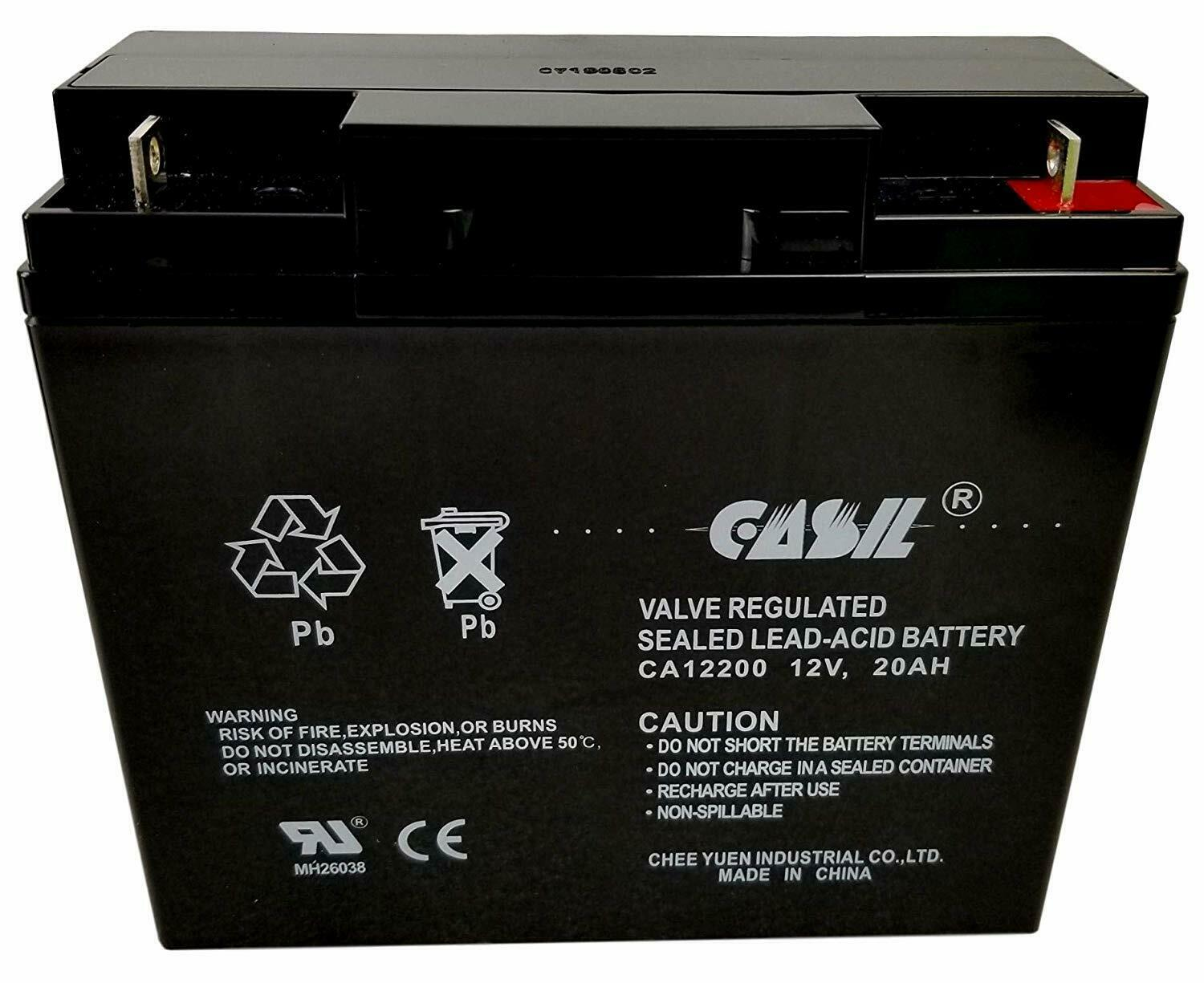 Casil CA12200 12V 20AH Sealed Lead Acid AGM Rechargeable Dee