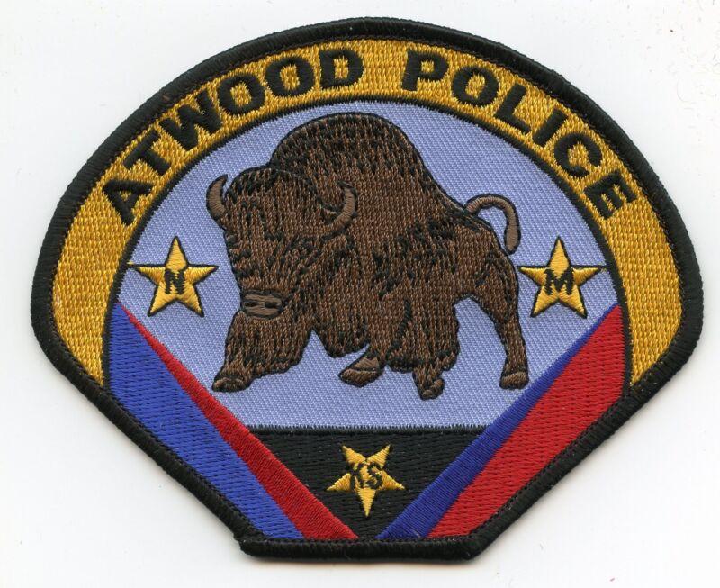 ATWOOD KANSAS KS POLICE PATCH