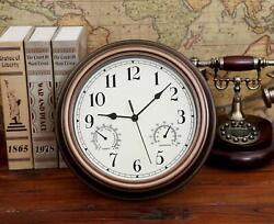 12 Inch Wall Clock Waterproof with Battery Operated Silent Wall Clock Decorative