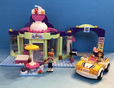 Lego Friends Yogurt Shop 41320 100% COMPLETE 2 minifigs 2 manual