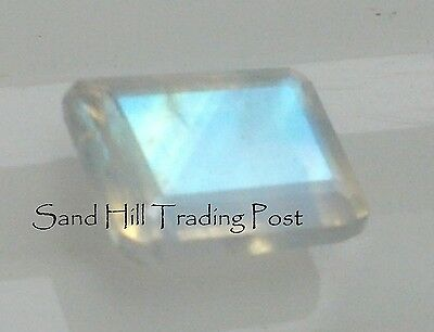 Natural 6x4 Loose Emerald Cut .67ct Rainbow Moonstone