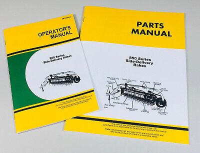 Operators Parts Manual Set For John Deere 850 Side Delivery Rake Owners Catalog