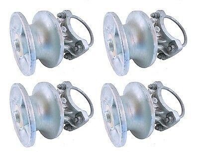 (4) CHAIN LINK CANTILEVERED GATE ROLLERS: to 4