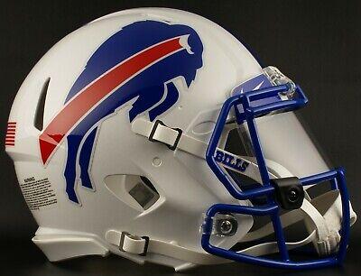 72497b480 BUFFALO BILLS Tribute NFL Football Helmet with Nike CLEAR Visor   Eye Shield