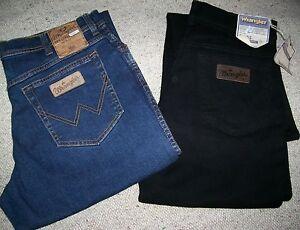 2-WRANGLER-jeans-Texas-stretch-Mid-Stone-Nero-Tg-W35-L34