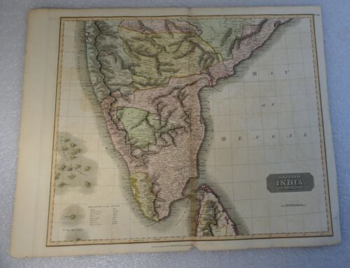 ANTIQUE MAP PERU BRITISH INDIA SOUTHERN PART 1816 JOHN THOMSON