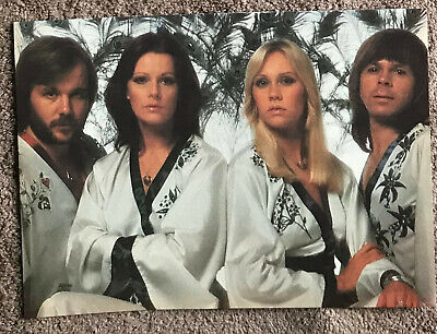 ABBA -- 1977 Full page UK magazine annual poster