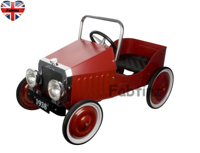 Childrens Great Gizmos Kids Classic Retro 1930s Vintage Racing Pedal Car - Red