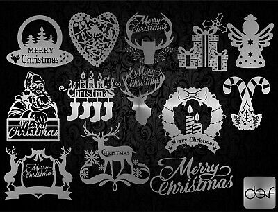 Christmas Pack - Dxf Cdr Svg Files For Cnc Plasma Router Or Laser Cut Dxf File