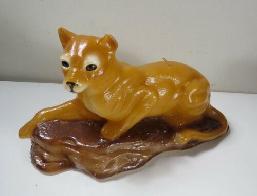 Vintage Mountain Lion Cougar Puma Wax Candle - Never Lit