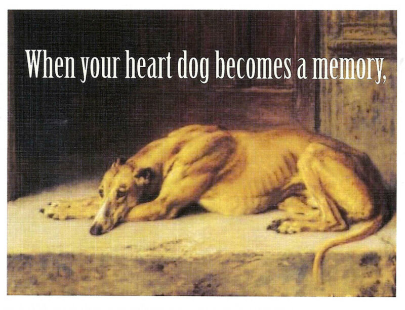 Vintage Altered Art Greyhound Sympathy Cards with Envelopes, set of 4