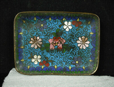 Empty Pocket or Cup Copper Enamelled Asian China c1950 Enameld Cupcake