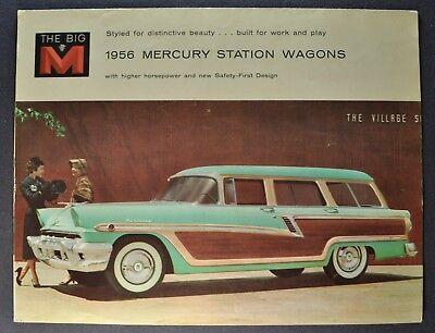 1956 Mercury Station Wagon Brochure Monterey Custom Commuter Nice Original 56