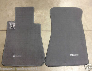 Genuine mercedes benz sl class r107 grey carpeted floor for Mercedes benz sl550 floor mats