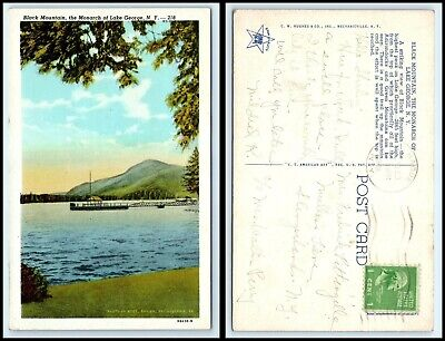 NEW YORK Postcard - Lake George, Black Mountain, Monarch Of The Lake (Lake George Mountain)