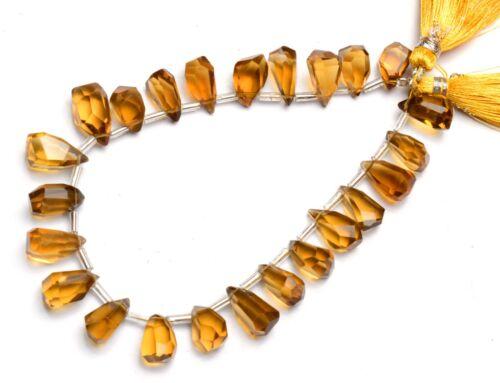 "Natural Gem Honey Quartz Nugget Cut Drop Shape Beads 8"" Jewelry Supplies 101Cts."
