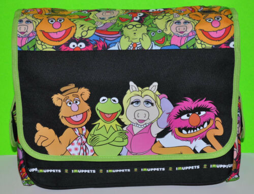 The Muppets Kermit Miss Piggy Animal Messenger School Travel Bag Birthday Gift