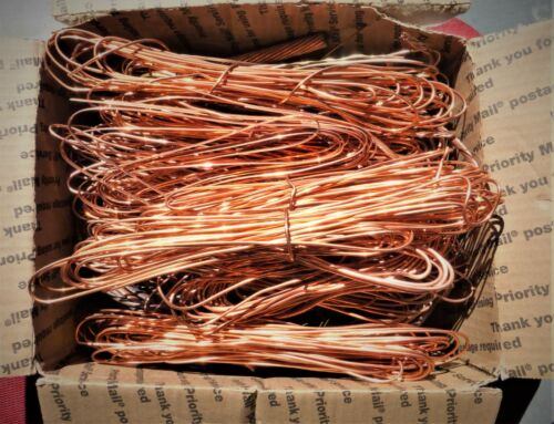 22 Lbs Scrap Copper Wire Bare Craft Jewelry