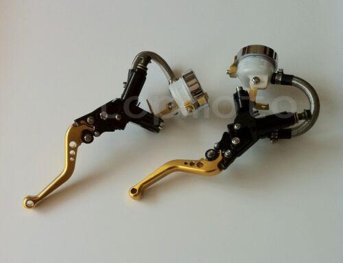"""7/8"""" Clutch Brake Levers Master Cylinder Reservoir For CBR1000RR/FIREBLADE 04-07"""