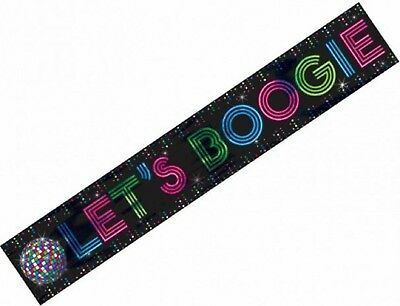 70s Disco Fever Ball 1970s Seventies Giant 25ft Themed Party Decoration Banner - 70s Theme Party Decorations