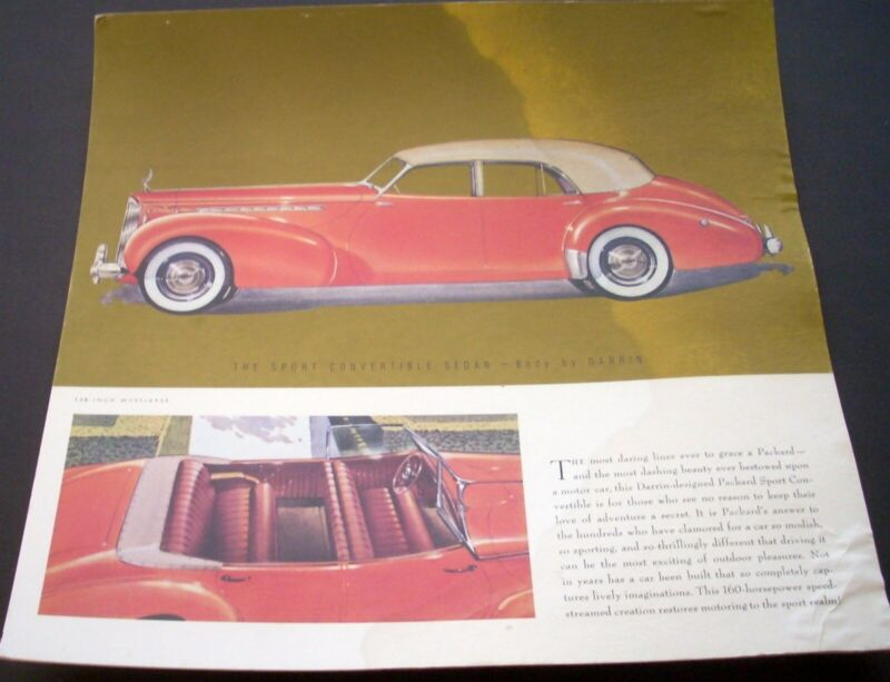 1940 Packard Custom By Darrin Plates Dealer Display Showroom Poster Original Big