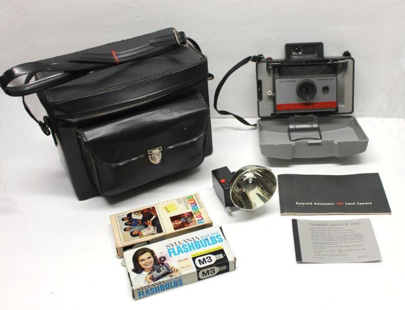 Vintage Polaroid Automatic 104 Land Camera Flash Bulbs Bag
