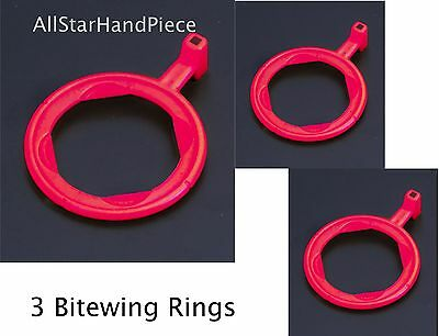 3 Bitewing X-ray Aiming Ring Color Coded Rinn Xcp Style Red Positioning 3 Rings