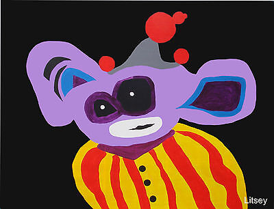 Purple Clown IT. by International Artist Brent Litsey London, Paris, New York