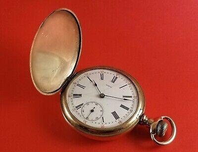 Antique OMEGA Pocket Watch Gold Filled Hunter Case 16 Size S/N 1720422