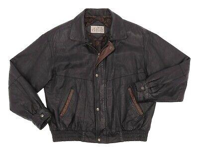 ASH CREEK TRADING Leather Jacket XL Mens Vintage Flight Bomber Jacket Motorcycle