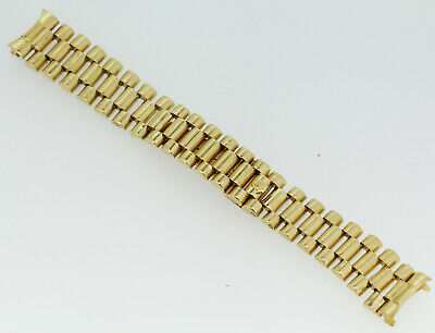 Authentic/Worn 18k Yellow Gold Rolex President Watch Band