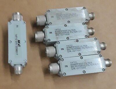 Lot Of 5 Telonic Berkeley Microwave Bandpass Filter 14712 N-female To N-male